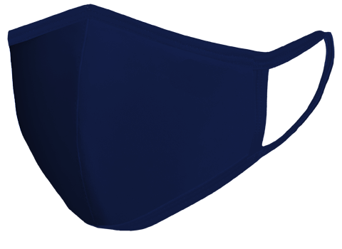 Mask NAVY front view Floating