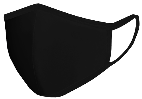 Mask BLACK front view Floating