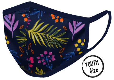 Navy Floral Mask YOUTH