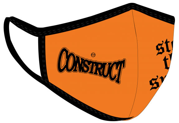 Construct Traffic Floating masks Orange Right Side